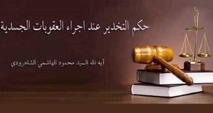 حكم التخدير عند اجراء العقوبات الجسدية ..  آيه الله السيد محمود الهاشمي الشاهرودي