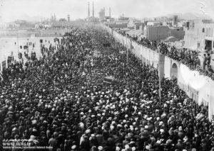 تشییع جثمان الشیخ عبدالكريم الحائري ره في قم