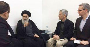 المرجع الديني السيد السيستاني يستقبل وفدا من منظمة اطباء بلا حدود