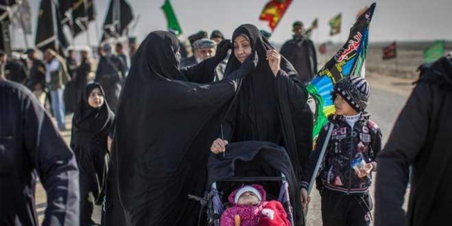 مشي النساء إلى كربلاء