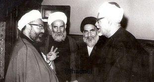 آية الله الشیخ واعظ زاده الخراسانی في لقائه مع الدکتور محمد الفحام شیخ الأزهر