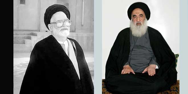 المرجع الديني السيد السيستاني يعزي بوفاة المحقق السيد محمد حسين الحسيني الجلالي