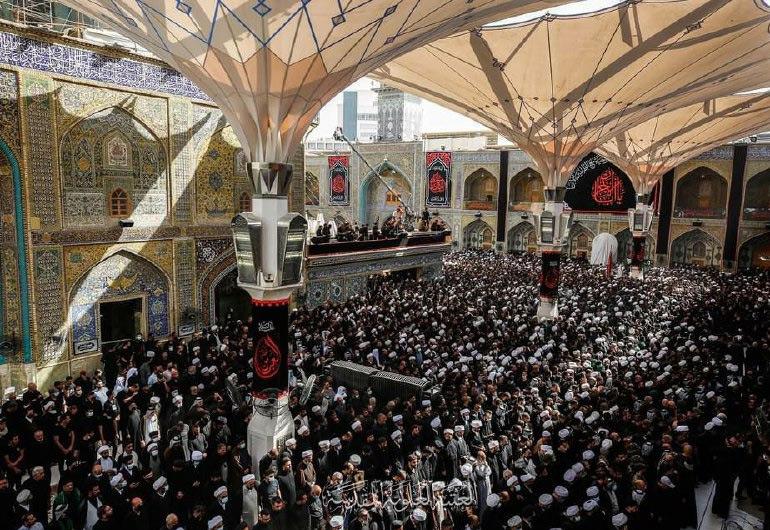 تشييع المرجع الديني آية الله السيد محمد الحكيم في النجف