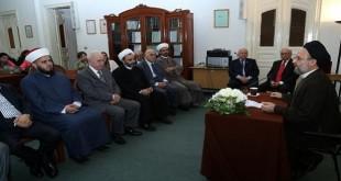 """العلامة السيد علي فضل الله، خلال محاضرة بعنوان """"المسلمون الشيعة واقع وإشكاليات"""